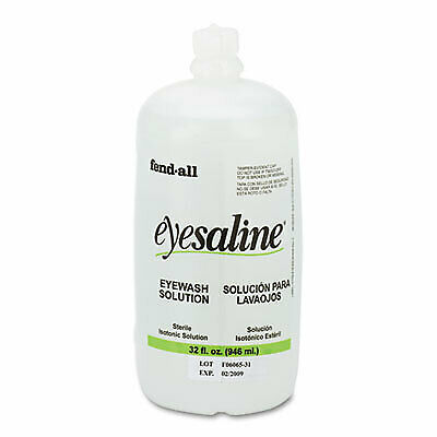 Fendall Eyesaline Eyewash Saline Solution Bottle Refill 32 Oz 3200045500ea