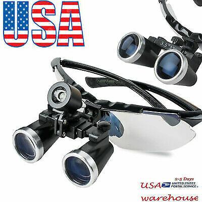 Us Upgraded Dentist Eyeglasses Medical Binocular Loupes 3.5x 320mm Light Blue