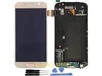 Sale Genuine Samsung G920 / S6 Gold Digitizer Touchscreen LCD