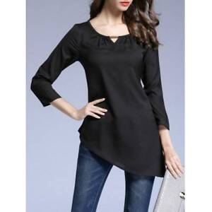 Pure Color Asymmetrical T-Shirt - L BLACK Ultimo Inner Sydney Preview