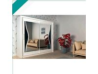 🤷😊 (BeuTiFuL)🚌 ELEGENT STYLE NEW MIRROR SLIDING 2-DOOR WARDROBE AVAILABLE👈 LIMITED IN STOCK🙋☺️