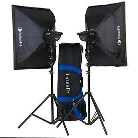 Interfit F121 2 x 200w soft box kit with accessories