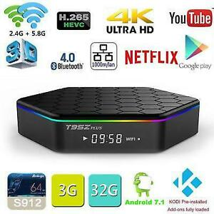 LATEST BRAND NEW ANDROID TV 7.1/6.0 4K S912 OCTACORE AVOV/BUZZ TV/MAG254/MAG256 $135 TO $165 IPTV KODI 17.6 TERRARIUM TV