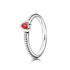 NEW Pandora delicate heart (red) ring size o-p (56)