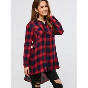 Plaid High Low Shirt - XL CHECKED Ultimo Inner Sydney Preview