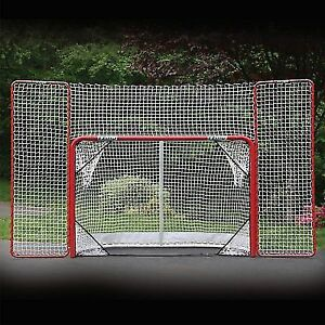 EZ Goal Steel Folding Hockey Goal with Backstop Brand New