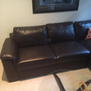 Downsizing - Leather Sectional