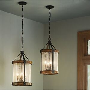 Kichler Lighting 4 Light Wood Foyer Pendant