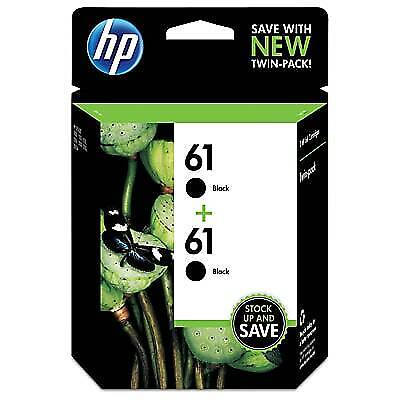 HP 61 2-pack Original Ink Cartridges, Black (CZ073FN)