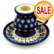 Polish Pottery Candle Holders