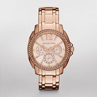 $310 Michael Kors Womens Rose Gold-Tone Cameron Watch MK5692
