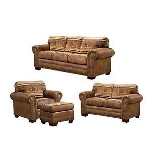 American Furniture Clics 4 Piece Wild Horses Sleeper Sofa