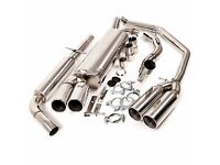 Cat back stainless steel quad pipe exhaust for mk4 golf brand new