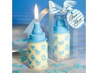 Baby Shower - Baby bottle candle, blue - £1.80 Plus P&P