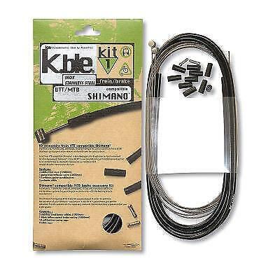 Kit fundas cables sirgas siergas freno inoxidable mtb compatible shimano/sram