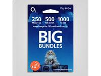 O2 SIM Card 500MB 250mins 1000 Texts