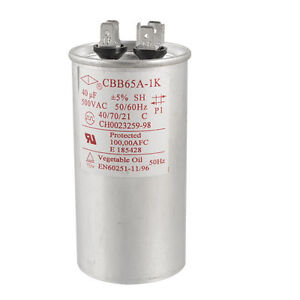 Air Conditioner 40uF 500V AC Non Polar Motor Compressor Start Capacitor