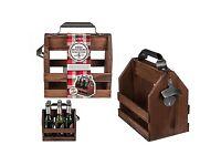 Wooden Bottle Holder & Metal Bottle Opener 25 x 22 cm for 6 bottles (0,33 cl) £16.30 Plus P&P