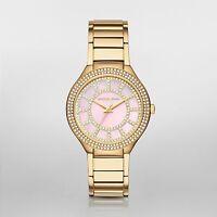 $380 Michael Kors Women's Kerry Steel Watch Gold Tone MK3396