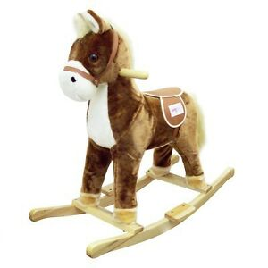 New Kids Rocking Horse Toy (with Horse Sound) -Brown