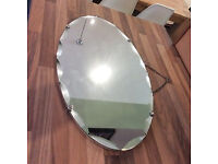 Vintage Retro Bevel edged Pretty Oval Shaped wall mirror,