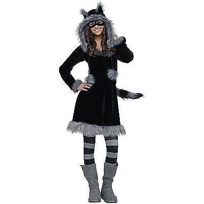 Teen girl raccoon costume