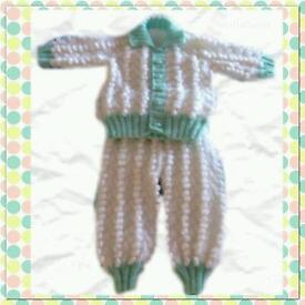 Babies bobble pram suit