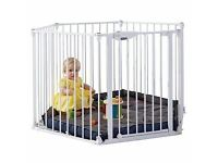 Mothercare White Metal Play Pen with Mat