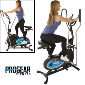 NEW* PROGEAR 400LS 2 N 1 ELLIPTICAL - 134137135 - Exercise Bike with Heart Pulse Sensors FITNESS EXERCISE EQUIPMENT