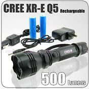 Q5 CREE Flashlight Rechargeable