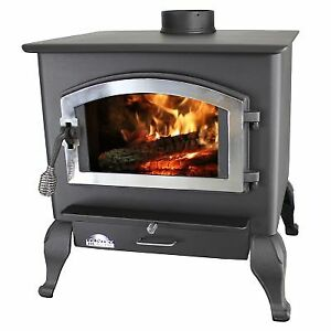 Used-Magnolia Wood Stove w/Blower and Legs, 2,500 sq. ft.