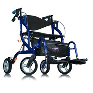 Airgo Fusion 2 in 1 side Folding Rollator and Transport Chair