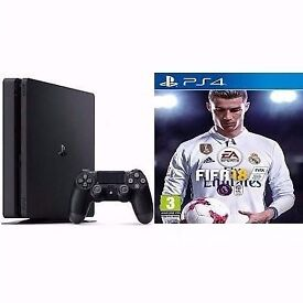PS4 SLIM + Controller & Fifa 18
