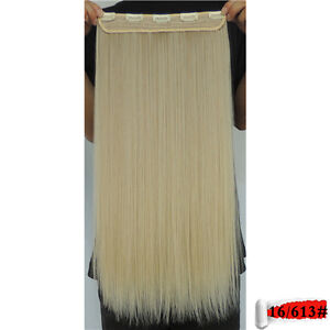 """Clip in hair extension,Straight hair,60 cm, 24"""", Color #16/613 Yellowknife Northwest Territories image 2"""