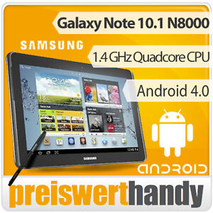 Samsung Galaxy Note 10.1 N8000 16GB Grau WLAN + 3G 5MP Android 4.0 Neuware OVP