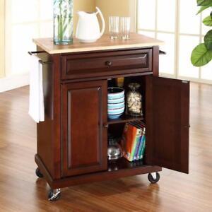 Crosley Furniture CF3002-MA Portable Kitchen Island/Cart NEW