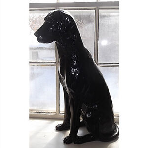 Black Labrador Retriever Statue