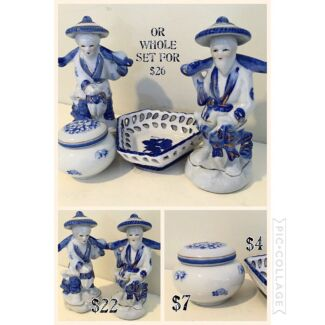 Blue & white china/porcelain