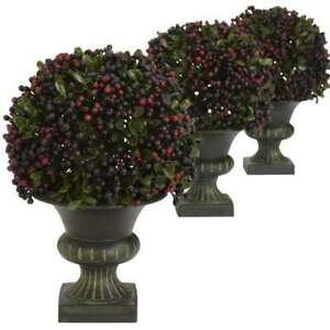 Pepper Berry Ball Topiary (Set of 3), New