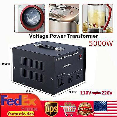 5000W Voltage Converter Transformer Heavy-duty Step-up/step-down 220V To 110V US
