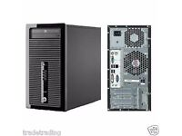 HP Prodesk 400 G1 Tower Intel i3-4130 3.4GHz 8GB RAM 500GB hddWin 7