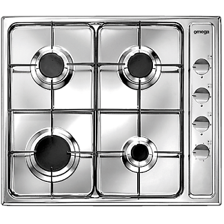 Brand New Omega 60 cm 4 Burner Stainless Steel Gas Cooktop