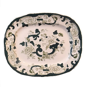 "Mason's Ironstone Platter in the ""Chartreuse"" Pattern"
