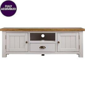** BARGAIN ** UNOPENED ** JTF Hampshire Solid Wood TV Unit 2 Door 1 Drawer
