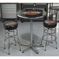 Harley Davidson pub table and stools