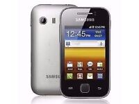Android smartphone Samsung Young Y, small, handy, child, teen, school, unlocked, tough