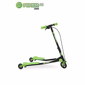 New Yvolution Y Fliker A3 Air Scooter, Black/Green