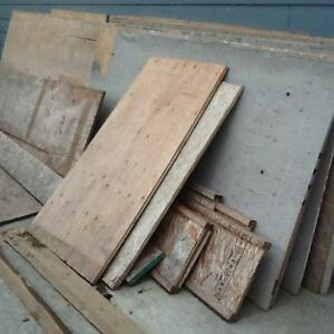 """Free used lumber - 5/8 and 3/4"""" plywood and cedar siding"""