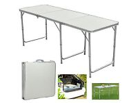6FT Aluminum Portable Folding Table Trestle Party Camping BBQ Picnic Table