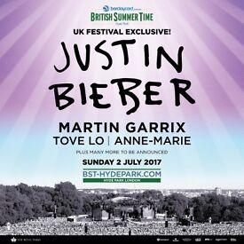 Tickets: Bieber/Garrix Hyde Park, Priority 6x